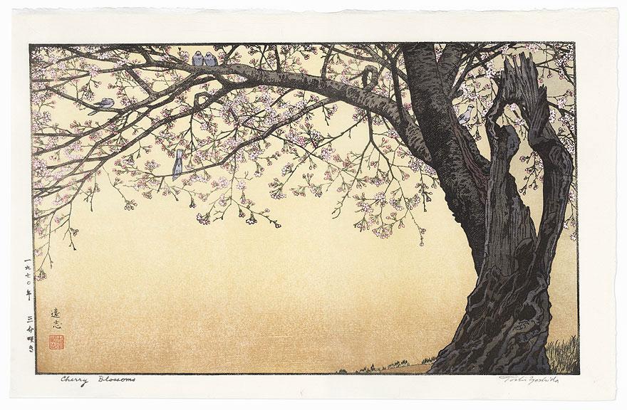 Cherry Blossoms, 1941 by Toshi Yoshida (1911 - 1995)