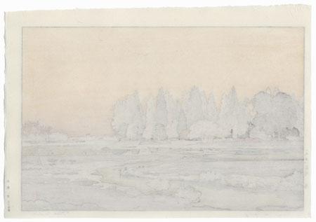 Morinji in Spring, 1951 by Toshi Yoshida (1911 - 1995)