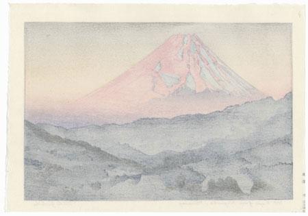 Mt. Fuji from Nagaoka, Morning, 1962 by Toshi Yoshida (1911 - 1995)