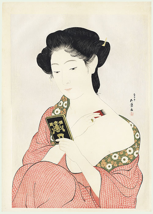 Beauty Applying Powder, 1918 by Hashiguchi Goyo (1880 - 1921)