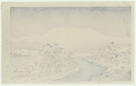 Mt. Ibuki Snow, 1920 - ORIGINAL by Hashiguchi Goyo (1880 - 1921)