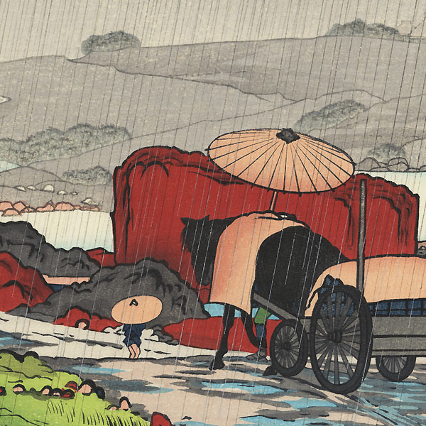 Rain at Yubekei, 1920 by Hashiguchi Goyo (1880 - 1921)