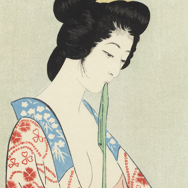 Beauty in a Long Undergarment, 1920 by Hashiguchi Goyo (1880 - 1921)