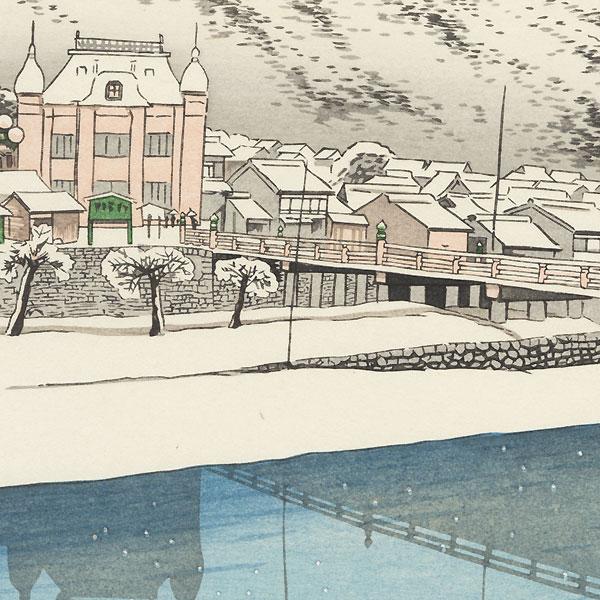 Sanjo Bridge, Kyoto, 1920 by Hashiguchi Goyo (1880 - 1921)