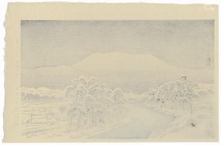 Mt. Ibuki Snow, 1920 by Hashiguchi Goyo (1880 - 1921)