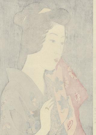 Beauty With a Hand Towel, 1920 by Hashiguchi Goyo (1880 - 1921)