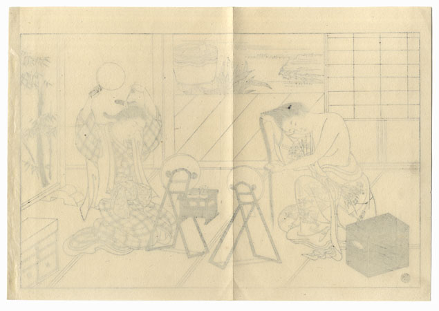 Offered in the Fuji Arts Clearance - only $24.99! by Sukenobu (1671 - 1750)