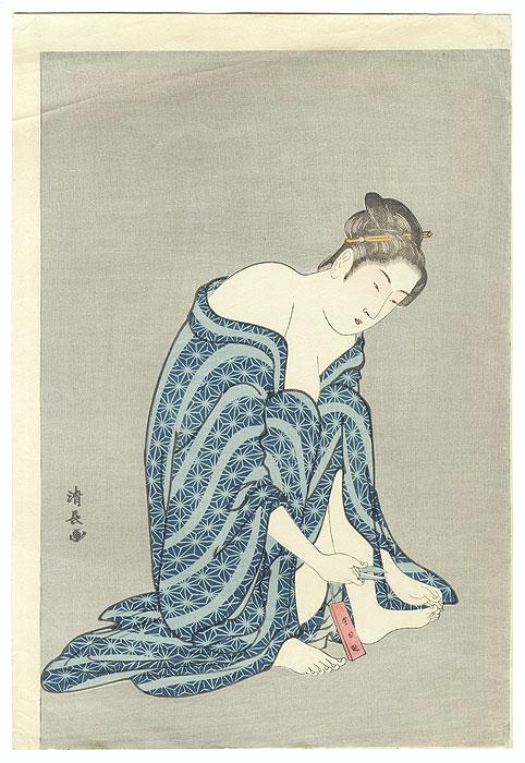 Beauty Grooming by Kiyonaga (1752 - 1815)
