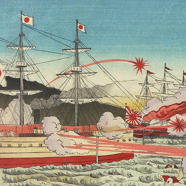 Fuji Arts Overstock Triptych - Exceptional Bargain! by Meiji era artist (not read)
