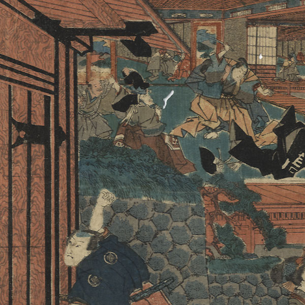 Offered in the Fuji Arts Clearance - only $24.99! by Kuniteru I  (1808 - 1876)