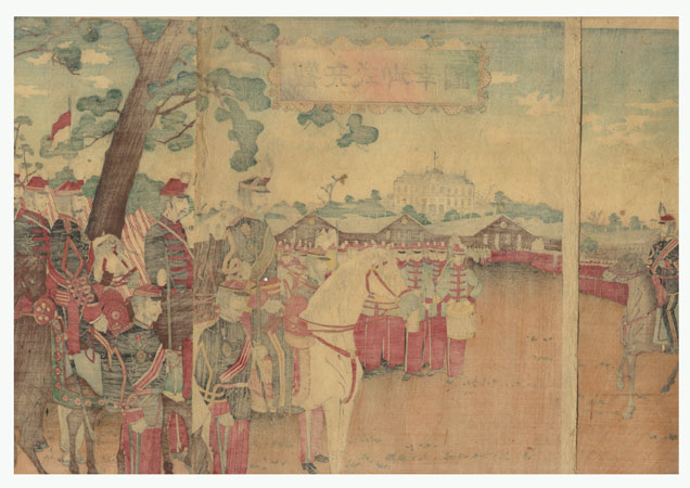 Fuji Arts Overstock Triptych - Exceptional Bargain! by Kuniyasu (1794 - 1832)