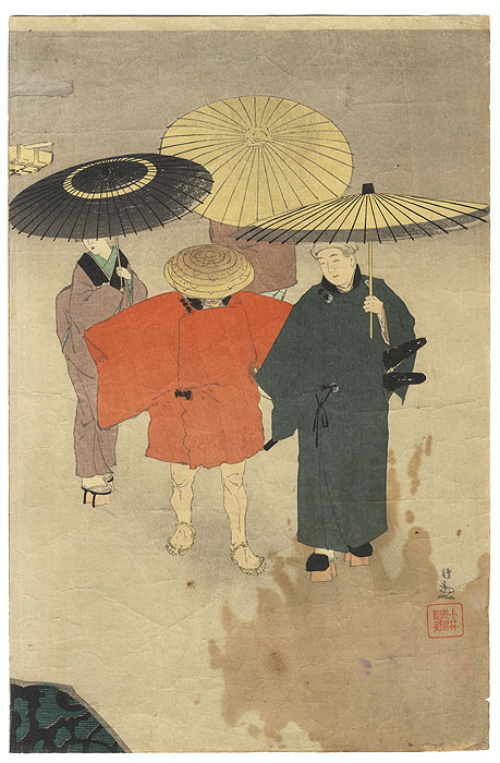 A Clearance Opportunity! Meiji or Edo era Original by Kiyochika (1847 - 1915)