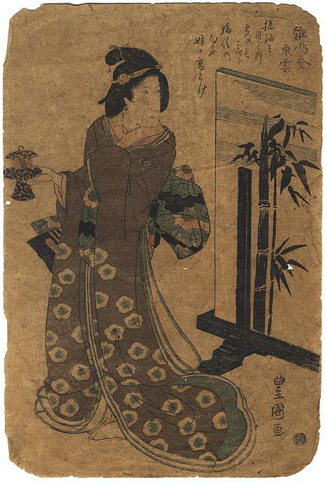 A Clearance Opportunity! Meiji or Edo era Original by Toyokuni I (1769 - 1825)