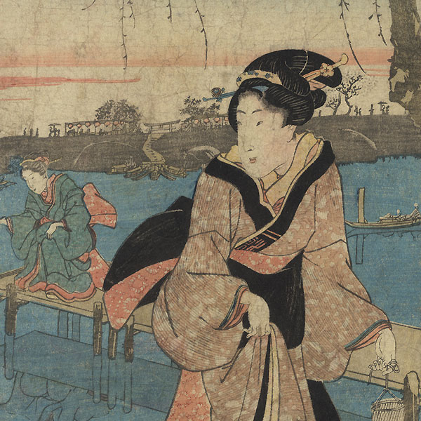 A Clearance Opportunity! Meiji or Edo era Original by Sadahide (1807 - 1873)