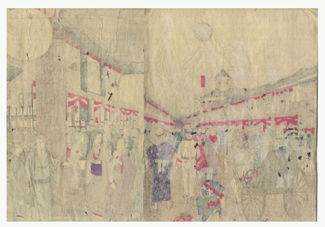 Fuji Arts Overstock Diptych - Exceptional Bargain! by Shuntei, Miyagawa (1873 - 1914)