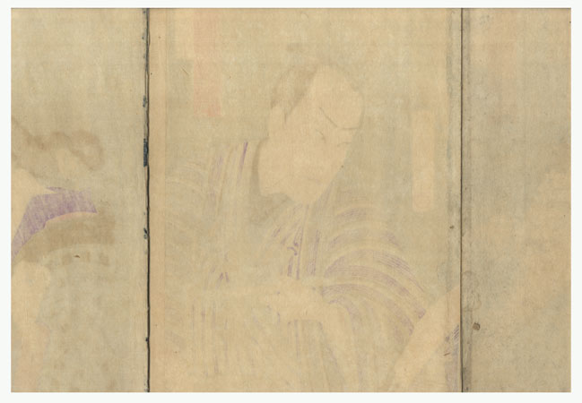 Fuji Arts Overstock Triptych - Exceptional Bargain! by Kunichika (1835 - 1900)