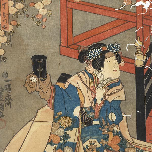 Fuji Arts Overstock Diptych - Exceptional Bargain! by Toyokuni III/Kunisada (1786 - 1864)