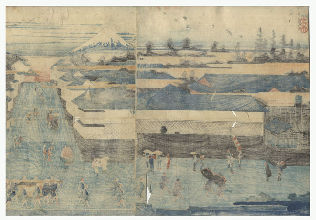 Fuji Arts Overstock Diptych - Exceptional Bargain! by Hiroshige (1797 - 1858)