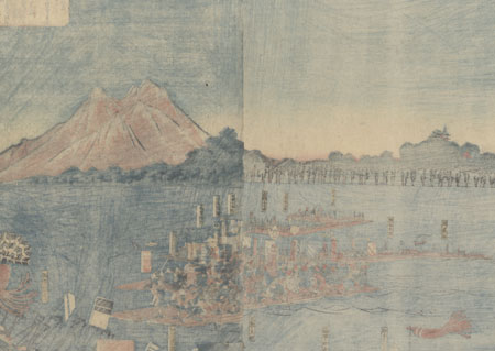 Fuji Arts Overstock Diptych - Exceptional Bargain! by Yoshitsuya (1822 - 1866)