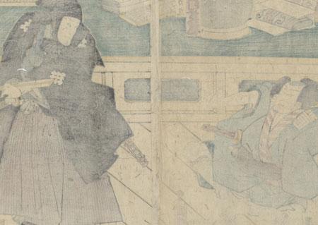 Fuji Arts Overstock Diptych - Exceptional Bargain! by Kuniaki II (1835 - 1888)