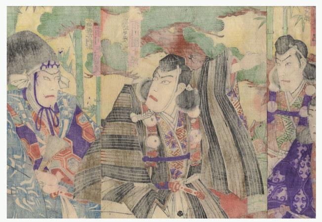 Fuji Arts Overstock Triptych - Exceptional Bargain! by Kunisada III (1848 - 1920)