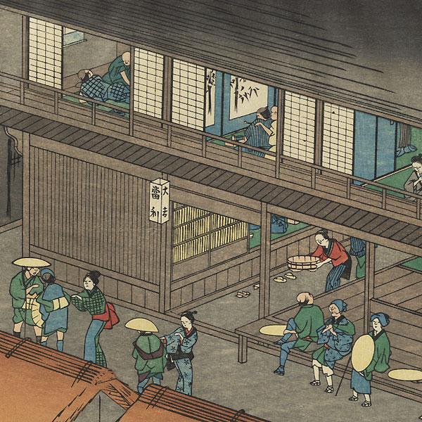 Akasaka, Station No. 37 by Hiroshige (1797 - 1858)