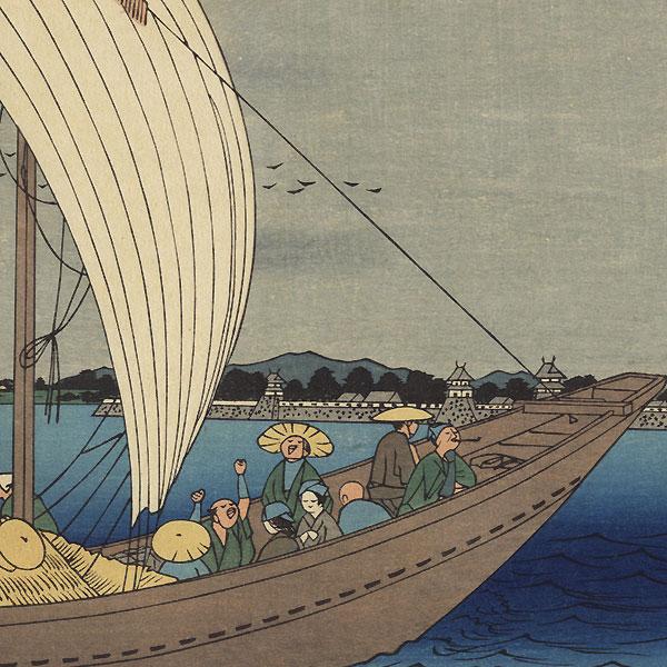 Kuwana, Station No. 43 by Hiroshige (1797 - 1858)