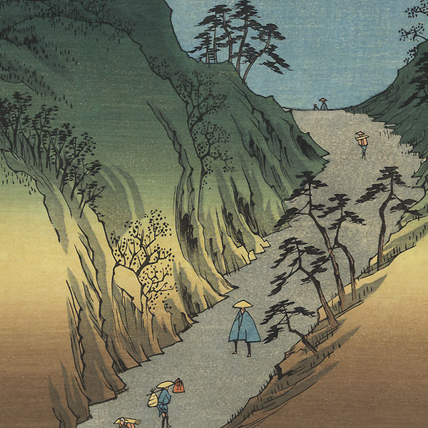 Okabe, Station No. 22 by Hiroshige (1797 - 1858)