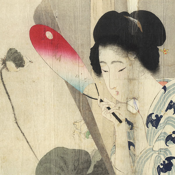 A Clearance Opportunity! Meiji or Edo era Original by Eisen Tomioka (1864 - 1905)