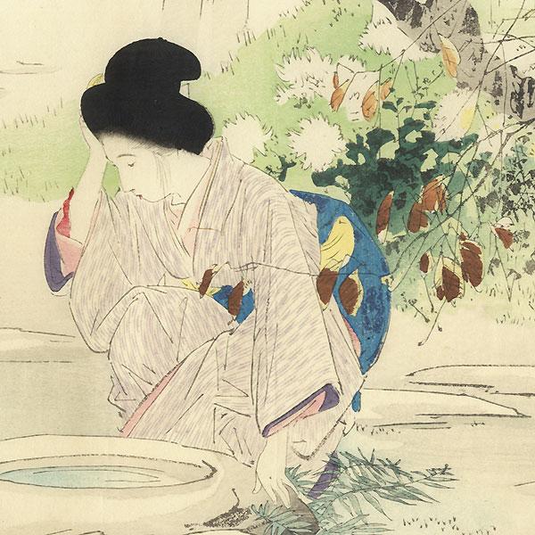 A Clearance Opportunity! Meiji or Edo era Original by Hanko, Kajita (1870 - 1917)