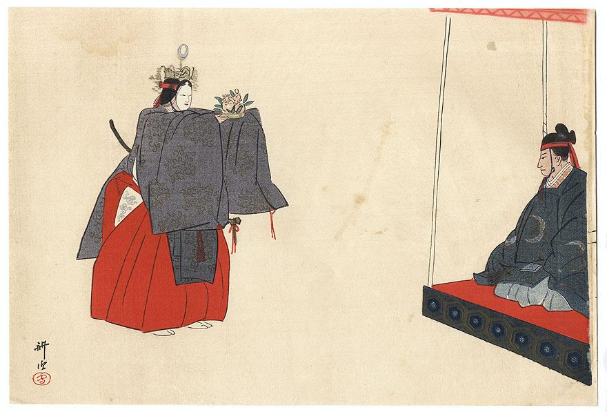 A Clearance Opportunity! Meiji or Edo era Original by Tsukioka Kogyo (1869 - 1927)
