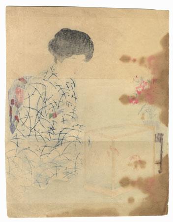 A Clearance Opportunity! Meiji or Edo era Original by Takeuchi Keishu (1847 - 1915)