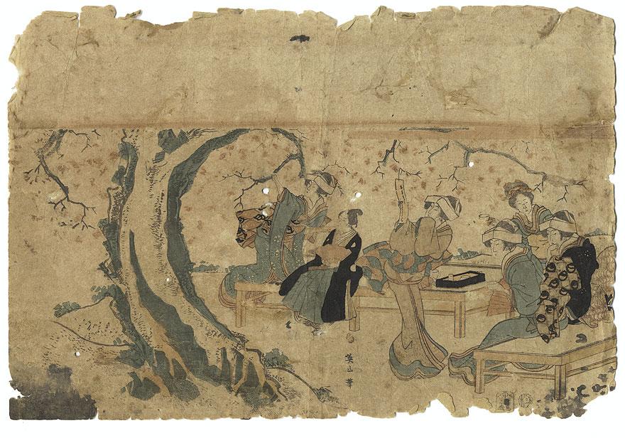 A Clearance Opportunity! Meiji or Edo era Original by Eizan (1787 - 1867)