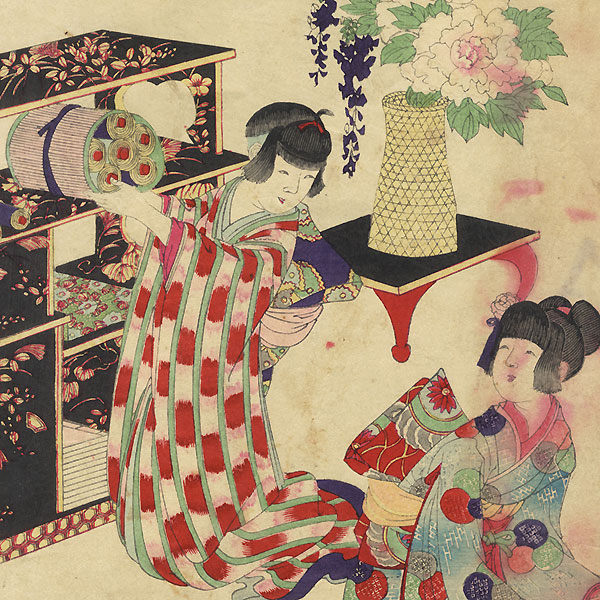 A Clearance Opportunity! Meiji or Edo era Original by Chikanobu (1838 - 1912)