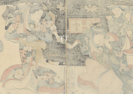 Fuji Arts Overstock Diptych - Exceptional Bargain! by Toyokuni II (1777 - 1835)