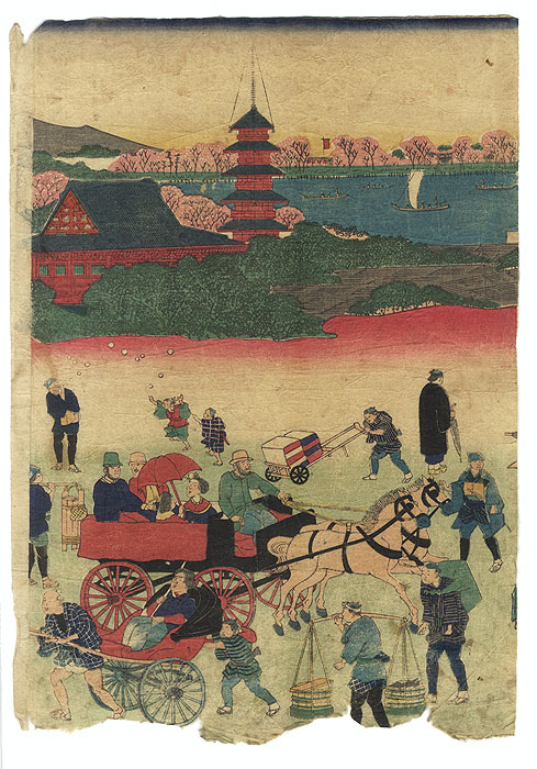 Ultimate Clearance - $14.50! by Yoshitora (active circa 1840 - 1880)  and Hiroshige II (1826 - 1869)