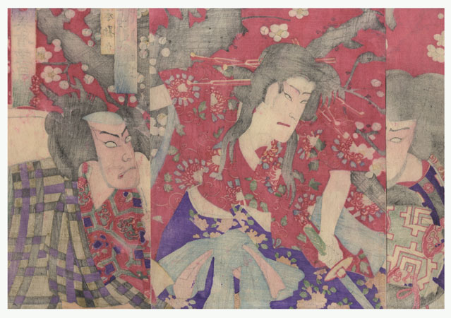 Fuji Arts Overstock Triptych - Exceptional Bargain! by Chikanobu (1838 - 1912)