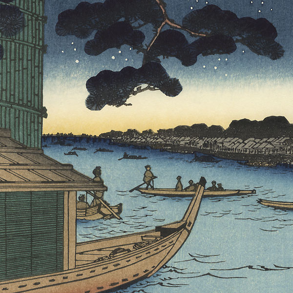 Pine of Success and Oumayagashi, Asakusa River by Hiroshige (1797 - 1858)