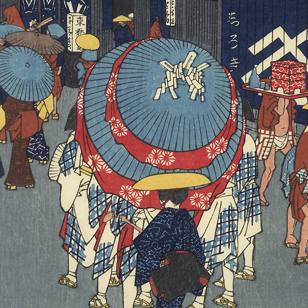 View of Nihonbashi Tori 1-chome by Hiroshige (1797 - 1858)