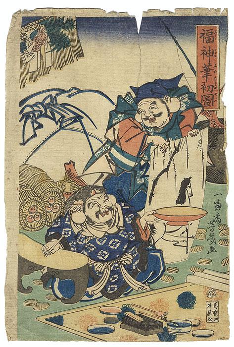 A Clearance Opportunity! Meiji or Edo era Original by Yoshiiku (1833 - 1904)