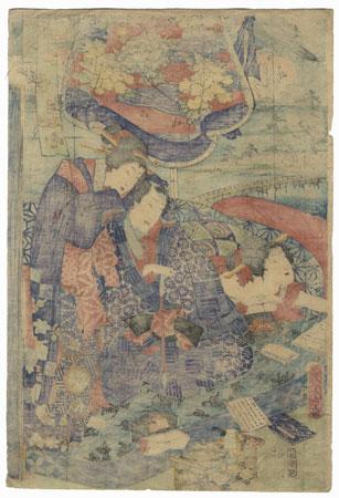A Clearance Opportunity! Meiji or Edo era Original by Kunichika (1835 - 1900)