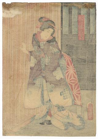 A Clearance Opportunity! Meiji or Edo era Original by Toyokuni III/Kunisada (1786 - 1864)