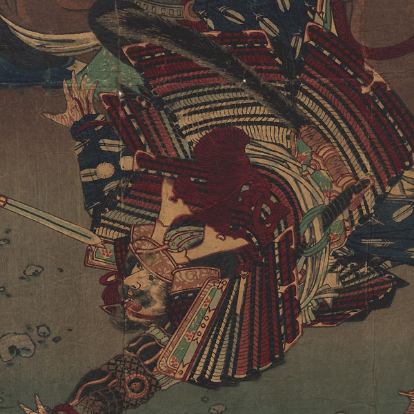 Fuji Arts Overstock Diptych - Exceptional Bargain! by Toyonobu (1859 - 1886)