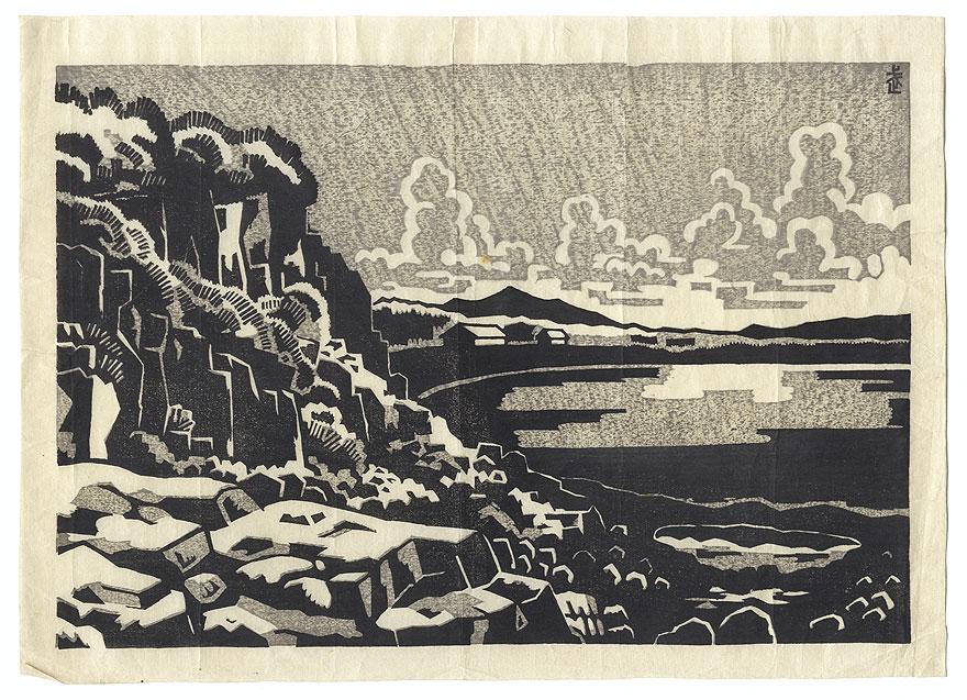 View along the Shore by Shin-hanga & Modern artist (not read)