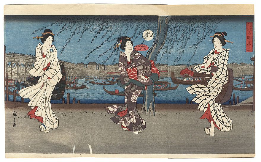Fuji Arts Overstock Triptych - Exceptional Bargain! by Hiroshige (1797 - 1858)