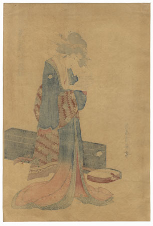 Beauty Reading a Letter by Kiyomine (1787 - 1868)