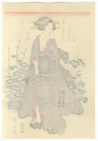 Morning Glories by Eizan (1787 - 1867)