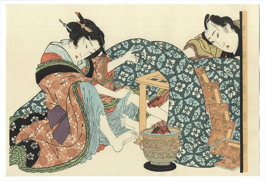 In The Foot Warmer by Eisen (1790 - 1848)