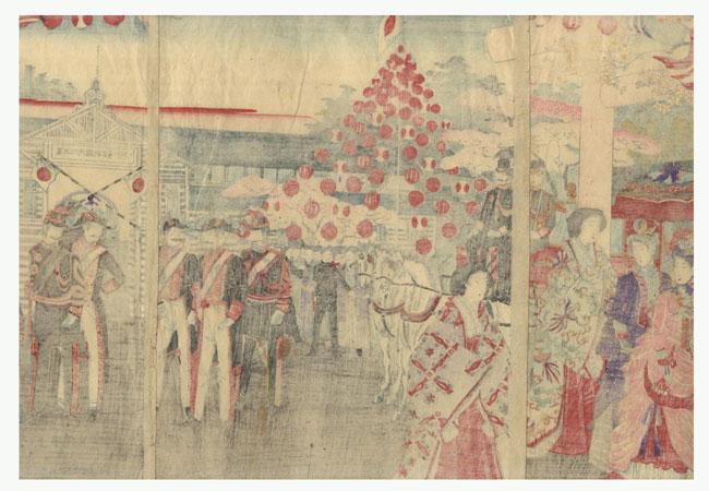 Fuji Arts Overstock Triptych - Exceptional Bargain! by Nobukazu (1874 - 1944)