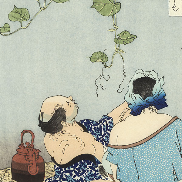 Under the Moonflower Bower by Yoshitoshi (1839 - 1892)
